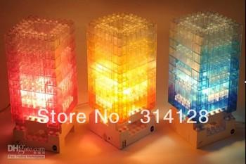 hot sale sensation puzzle lamp /DIY Blocks concept lamp