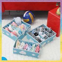 1PCS/lot High quality 20*Blue&red color Bra box Underwear Storage Organizer Box Set Underwear Bras Socks Ties + Free shipping!!!
