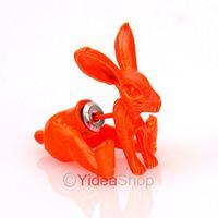 Wholesale - 8PCS Stylish Earrings Punk Lovely Gifts Orange Cute Rabbit Animal Earrings Studs 261457