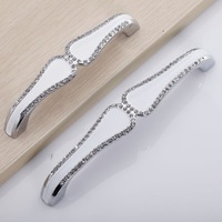 (C.C.. 128mm,Length:140mm)Free Shipping! Drawing stainless steel, crystal shake handshandle, special offer