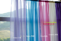 NEW  Rod-pocket style  wholesale 4pcs/lot  europe gauze curtain 21 kind of color .free shipping by China Post 140cm*260cm