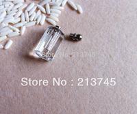 Freeshipping  Charm Pink Eight surface column Glass Vial Pendant Micro ial Bottle Screw Cap Pefume  pendant
