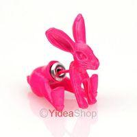 Wholesale - 8PCS Stylish Earrings Punk Lovely Gifts Plum Cute Rabbit Animal Earrings Studs 261456