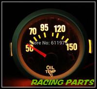 "2"" 52MM AUTO METER / REAL CARBON FIBER FACE&SILVER RIM OIL TEMP GAUGE/WITH SENSOR/AUTO GAUGE/CAR METER"