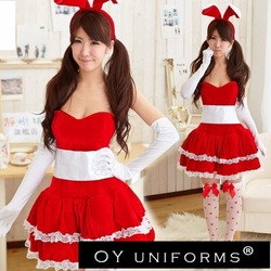 Free Shipping (10pcs/lot) Lovely Bunny Cosplay Costume_ Mascot Costumes for Sexy Girl at Discounted price(China (Mainland))