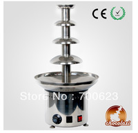 "CHOCOLAZI ANT-8060 Auger 4 tiers 23.5"" Commercial chocolate fountain New 304 Stainless Steel,1 y ear guarantee (Free shipping)"