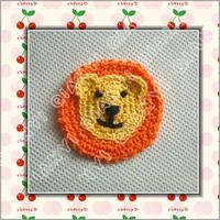 crochet cotton flower applique lion 20pcs a lot free shipping