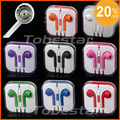 Brand New 3.5mm Stereo Earphone/Earpod for iPhone 5/5G With Remote MIC + Volume Control + Retail Box 10pcs/lot! Hot Selling!