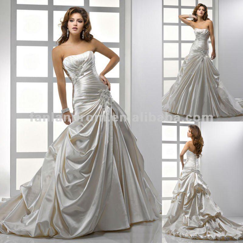 Elegant Wedding Dresses For Older Brides: Elegant straps a line ...