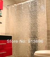 EVA 3D Diamond Effect Bathroom Shower Curtains/ Waterproof Thickening Curtains 180*180cm, Free Shipping