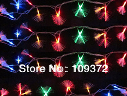 Wholesale 5pcs of 10m 80leds Holidays Decoration Fiber Optic String Lights Dandelion New Curtain Light Flexible Led Strip Lamps(China (Mainland))