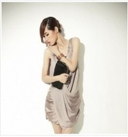 Sexy Sleeveless Formal Dress Khaki free shipping CS11110404-1