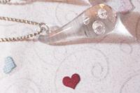 Free shipping, wholesale Korean drama  49 days Lee Yo Won three tear drop crystal pendant necklace kpop k-pop jewelry