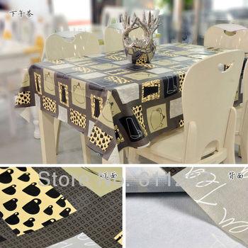 HOT ~ High quality  wholesale PVC new table linen/ tea table cloth  home textile 140*220cm  Lowest price
