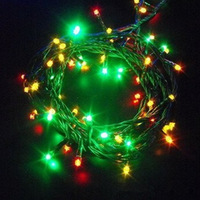 Multicolor/Blue/Green/Red/Yellow/White LED String Light 100 LED Wedding Party Xmas Tree Decoration Lights Lighting Free Shipping