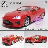 Alloy car model toy LEXUS lfa plain double door WARRIOR