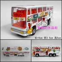 Good alloy car models toy car WARRIOR double layer bus model