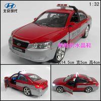Beijing hyundai taxi hyundai alloy car model toy acoustooptical red