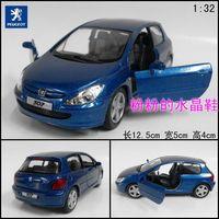 Soft world pulchritudinous 307 alloy car model toy car WARRIOR metal car blue