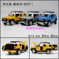 New arrival alloy car model toy plain four door WARRIOR TOYOTA cruiser suv