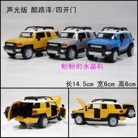 New arrival alloy car model toy plain four door WARRIOR TOYOTA cruiser suv
