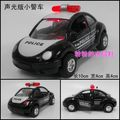 Plain small police car police car alloy car model toy WARRIOR black