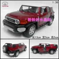 Soft world alloy toy car model TOYOTA cruiser toyota WARRIOR red