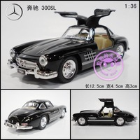 Soft world alloy artificial car model 1954 300 sl WARRIOR toy