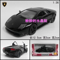 Soft world lamborghini lp640 roadster alloy car model toy car gift box black