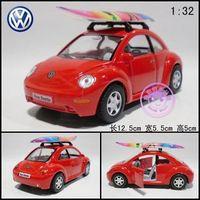 Soft world alloy car model toy vw beetle surfboard two open the door WARRIOR