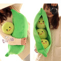 New Arrival  High Quality Super Cute Little Peas Stuffed Plush Doll 3 Peas in a Pod Pea Toy  Free Shipping FC12073