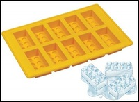 Free Shipping by DHL FedEx FDA Ice Mold Silicone Ice Cube Tray for lego Brick Block