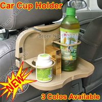 Folding Car Auto Back Seat Dining Meal Drink Food Cup Bottle Table Desk Tray Stand Holder Support Mount Organizer--3 Colors