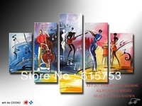 hand-painted artwork The Music festival carnivals High Q. Wall Decor Landscape Oil Painting on canvas 5pcs