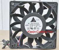 12cm Delta ffb1212eh F00 12025 dc12v 1.74a tachometer signal cooling fan