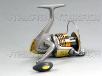 Free Shipping! 5 Ball Bearing HuiHuang HA5000A Frong Drag Fishing Spinning Reels Salt Water Reels aluminium Handle