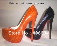 2012 new red sole genuine leather shoes woman sheepskin high heels womens shoes platform pumps free shipping