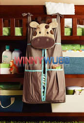 Infant Baby&#39;s Cartoon Brown Deer Diaper Stacker Multifunctional Diaper Pack Storage Bag 6pcs/lot(China (Mainland))