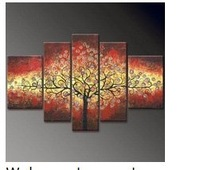 Hand-painted oil wall Colorful Gold native home decoration Landscape oil painting