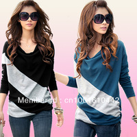 Free Shipping  2012 Hot Selling fashion T-shirt  women's clothes fashion dress Ladies fashion long dress skull pattern