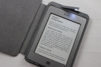 High quality Crazy horse Leather Cover Case for Amazon Kindle 4/5 with Built-in led Light Free shipping Retail & Wholesale