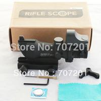 Tactical Airsoft ACOG Style TA01 NSN-DOC 4x32 Rifle Scope w/ Reflex Dot Sight