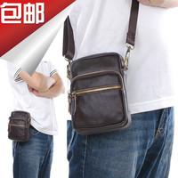 man fashion bag male cowhide waist pack genuine leather small messenger bags