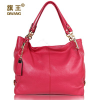 free shipping Flag 2012 genuine leather women's handbag messenger bag first layer of cowhide women's work bag