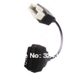 Hotest sell 3PCS/BAG 5pin obd to obd2 16pin connector 5pin Diagnostic adapter cable from ALKcar