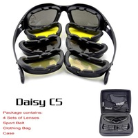 Daisy C5 Desert Storm 4 lenses Sunglasses Tactical  Goggles Outdoor Sports Bicycle Cycling Riding Eyewear