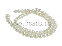 Free Shipping 58Pcs/Lot Vintage White Natural Potato Cultured Freshwater Pearl Loose Beads B grade 6mm Jewelry Findings