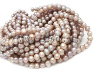 Free shipping!!!Potato Cultured Freshwater Pearl Beads,luxury, natural, pink, A Grade, 9-10mm, Hole:Approx 0.8mm