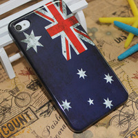 Wholesale Retro Flag case for iphone 4s smart hard plastic back case for iphone 4 DHL free shipping 50 pcs/lot