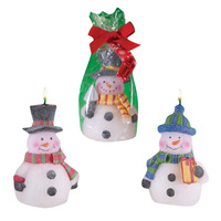 Gift snowman candle christmas candle new year gift technology candle